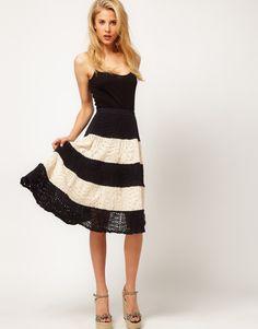 black  white crochet stripes