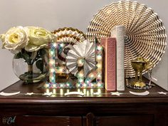 Playing around with new ways to display our new and improved Eid marquees! We've made some minor changes including: a new gold finish and… battery packs in addition to wall plugs! Now you can display these beauties all over your home without worrying about placing them near an outlet!