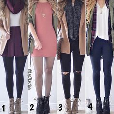 1, 2, 3 OR 4!? 😘 #Style #Cute Tag Your Friends! 👇