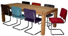 moderne eiken tafel buisframe stoel