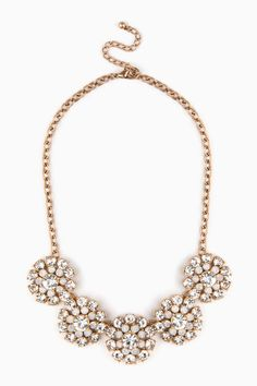 Noviello Necklace in Gold / ShopSosie #gold #rhinestone #burst #necklace #shopsosie