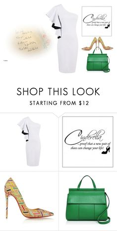 """""""One Shoulder Dress"""" by gloria-3789 ❤ liked on Polyvore featuring WALL, Christian Louboutin and Tory Burch"""