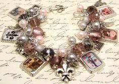 Vintage Paris Charm Bracelet Jewelry French by baublesbeadsncharms, $38.88