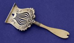 Whiting 'Ivory' Sterling Silver Sardine Server, c. 1896 - wow, too cool for words!