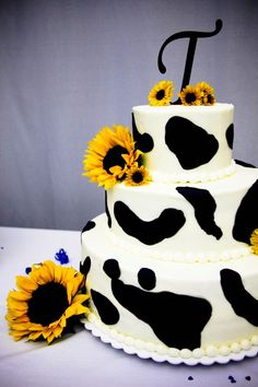 Our cow wedding cake