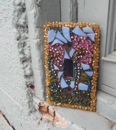 Mosaic switch plate Stained glass switch by PiecesofhomeMosaics