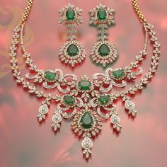 Emerald and diamond necklace: Indian Jewellery Design, Emerald Necklace, Necklace Designs, Indian India Jewelry, Gems Jewelry, Wedding Jewelry, Jewelry Sets, Fine Jewelry, Jewelry Necklaces, Silver Jewellery, Handmade Jewellery, Diamond Necklace Set