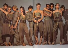 Versace campaign, Spring 1981. Models: Kim Alexis, Kelly LeBrock, Lisa Taylor, Beverly Johnson, and Rosie Vela. Photo: Richard Avedon.