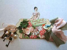 This lovely vintage tag by Graphic 45 used products from the 12 Days of Christmas collection.