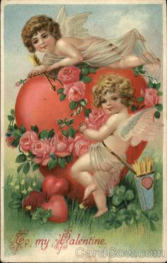 Shop Vintage Victorian Valentines Day Angels Heart Rose Cover For The iPad created by YesterdayCafe. Victorian Valentines, Vintage Valentine Cards, Vintage Greeting Cards, Vintage Postcards, Vintage Images, Vintage Ephemera, Valentine Cupid, Valentine Special, Happy Valentines Day