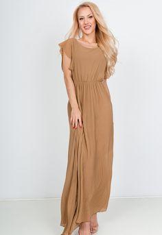 Dlhé béžové letné šaty s krátkym rukávom - ROUZIT.SK Bridesmaid Dresses, Wedding Dresses, Cold Shoulder Dress, Fashion, Bridesmade Dresses, Bride Dresses, Moda, Bridal Gowns, Fashion Styles
