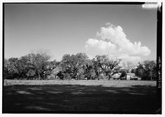 13.  General view of plantation grounds and outbuildings - Oakland Plantation, Route 494, Bermuda, Natchitoches Parish, LA