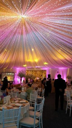 31 Best ideas for wedding reception hall ideas ceiling decor Wedding Hall Decorations, Wedding Reception Backdrop, Quinceanera Decorations, Wedding Chairs, Wedding Centerpieces, Wedding Table, Rustic Wedding, Light Wedding, Wedding Church