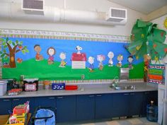Teacher Bits and Bobs: Photos of my room...finally!! Peanuts Classroom Mural