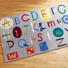 Kids' Rugs: Kids Colorful Alphabet ABC Rug in Interactive Rugs