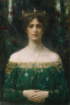 """The King's Daughter"" by Eduard Veith (Austria, circa 1902) (http://www.wieninternational.at/en/aktuell/with-the-senses-en) Queen Arlise"