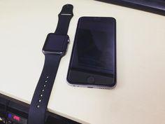 #아이폰6s 와 #애플워치 #블랙 #스페이스그레이 #깔맞춤  #스그성애자 #AppleWatch #iPhone6s by ligatiger