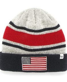 c0664a0c Operation Hat Trick Oht Broten Cuff Knit Gray 47 Brand USA Flag Hat