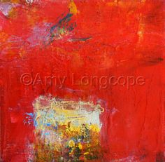 """Contemporary Painting - """"Untitled mini red"""" (Original Art from Amy Longcope)"""