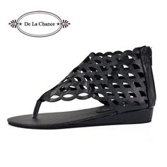 Check it on our site 2017 Fashion Women's Shoes Gladiator Flats Open-toe Thong Sandals Gladiator Sandals Women Casual Shoes Plus Size 40 just only $18.31 with free shipping worldwide  #womenshoes Plese click on picture to see our special price for you