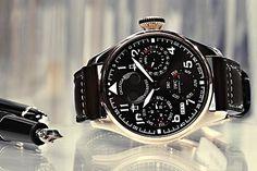 #Watch #Switzerland International Watch Company, #Brand #SwissMade Clock, Aircraft pilot, Strap - Follow @thegeniusboss for more pics like this!