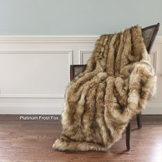 Faux Fur Lounge Throw Natural Living, Tahari Bedding, Fur Bedding, Faux Fur Throw, Faux Fur Blanket, Fuzzy Blanket, Joss And Main, My New Room, Home Goods