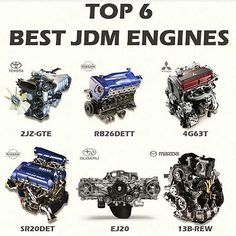 And the 6 most popular and widely known JDM engines too Jdm Engines, Race Engines, Mazda, Street Racing Cars, Racing Wheel, Auto Racing, Japanese Sports Cars, Import Cars, Br Car