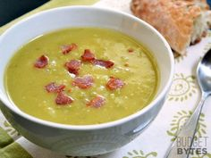 This unique soup combines the best of split pea and potato soups with some crispy bacon for extra flavor. Step by step photos.