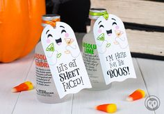 Let's Get Sheet Faced and I'm Here for the Boos Ghost Printable Halloween Gift Tag Favor Instant Dow Halloween Gift Baskets, Halloween Favors, Adult Halloween Party, Halloween Boo, Holidays Halloween, Halloween Treats, Happy Halloween, Halloween Decorations, Halloween Printable