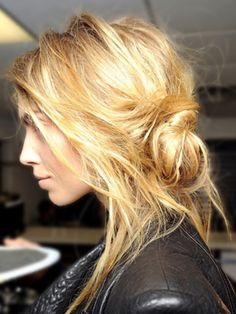 When you go out at night, try something a little funkier with your hair than your style during day.