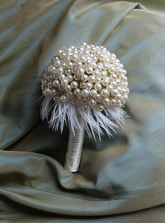 HOT 10pcs Pearl Beaded Bridal Bouquets Wedding Accessories White//Gold//Silver UK