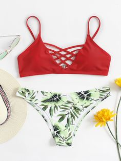 Shop Jungle Print Criss Cross Bikini Set online. SheIn offers Jungle Print Criss Cross Bikini Set & more to fit your fashionable needs.