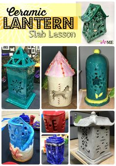 Slab Lanterns Cut-Out Design Ceramic Lantern Slab lesson Middle school clay Lesson high school art clay lesson. Create Art with ME Ceramic Lantern Slab lesson Middle school clay Lesson high school art clay lesson. Create Art with ME Clay Projects For Kids, Clay Art Projects, Ceramics Projects, Kids Clay, Ceramics Ideas, High School Anime, High School Ceramics, Middle School Art Projects, Clay Middle School