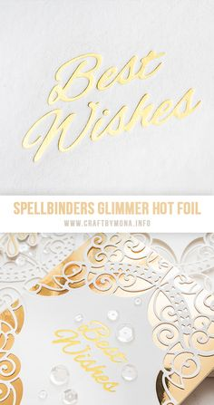 10 Best Wishes Foiled Banners Gold On Cream Card