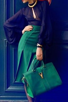 Beautiful green. This outfit screams my name.