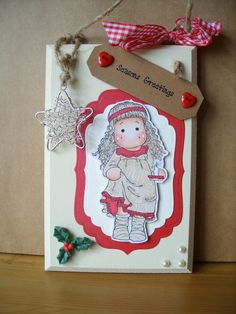 Christmas Plaque Magnolia Tilda Red
