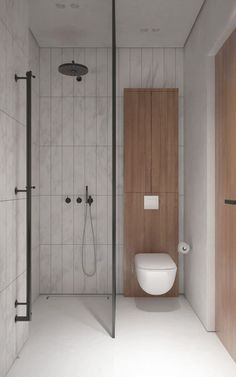 If you are confused what kind of shower room design suits your room. Below you can select design trend shower room. Inspiration design shower room that will make your room look amazing. Tiny House Bathroom, Bathroom Toilets, White Bathroom, Bathroom Showers, Shower Rooms, Spa Shower, Bathroom Closet, Washroom, Bathroom Storage