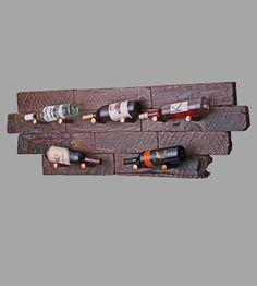 Reclaimed Wood & Copper Wine Rack
