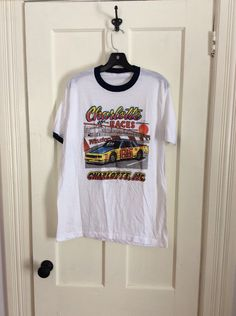 A personal favorite from my Etsy shop https://www.etsy.com/listing/221352503/vintage-1980s-charlotte-races-hot-rod
