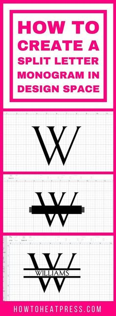 Make a split monogram for your loved ones with this tutorial. I use Cricut Design Space to make a simple split monogram for craft projects.