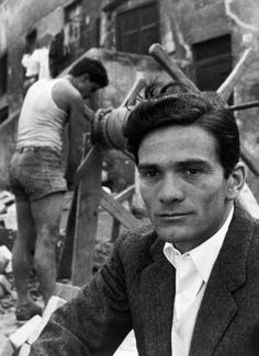 ITALY. Rome. Trastevere. Italian writer and film-director, Pier Paolo PASOLINI. 1953. Herbert List
