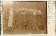 FINKENWALDE /STETTIN 11 Leute in einer Reihe 1918 |