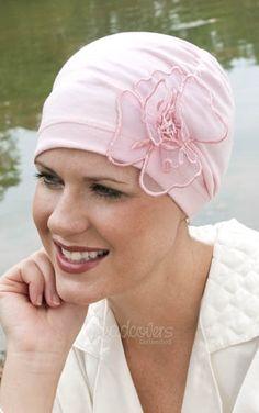 sleep caps for chemo hair loss   soft pink