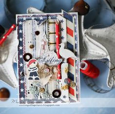 Dusty Attic/ Maja Design projects #majadesign #dustyattic #chipboard #cardmaking #nautical #pirate