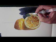 Sliced Lemon Watercolour Demonstration - YouTube