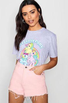 T-Shirt mon petit poney Teintes Pastel, Cartoon Fashion, Kimono, Cartoon Styles, Tween, Boohoo, Pony, Brother, Curls