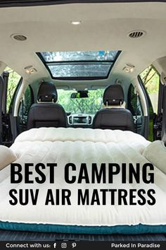 Campers recommend the best pickup truck and SUV air mattresses for camping. Which features to look for, best materials, sizing and price. Suv Camping Tent, Car Tent, Van Camping, Camping With Kids, Camping Gear, Camping Air Mattress, Truck Bed Mattress, Truck Bed Tent, Backpacking Meals