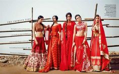 the crimson red bridal collection