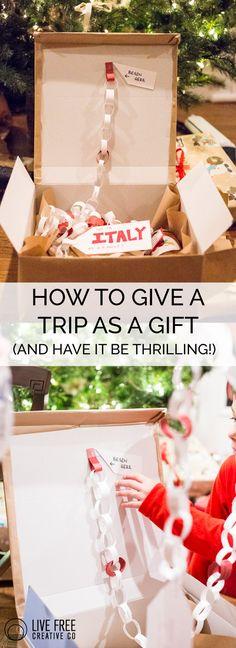 How to Give a Trip as a Gift in a Fun Way- Live Free Creative Co.