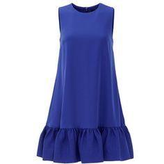 6dffe7994664 Rental Cynthia Rowley Indigo Ruffle Duster Shift Ruffled Dresses